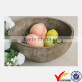 Handmade Vintage Wooden Bowl Shallow Planter