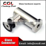 304/316 stainless steel glass standoff handrail bracket for balustrade/glass stair
