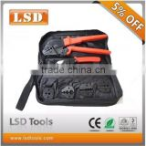 LSD good quilty AP-K05H Coaxial Crimping Tool kit with cable cu& replaceable dies for CCTV BNC coaxial cable connectors