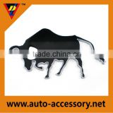 Best selling wonderful material chrome cow car logo plastic sign