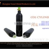 HPA Aluminum Alloy Soda Stream Style 0.5L Co2 Gas Cylinder With Valve Equipped For Soda Machine