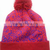 Custom Screen Print Beanie Hat Popular Style Skull Beanies Men And Women Winter Knit Cap Cuff woven label patch or leather patch