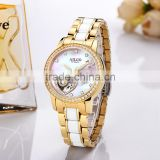 Women Watch Full Automatic Mechanical Skeleton Watch Waterproof Ceramic Wrist lady Watch