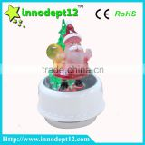 Christmas gift Santa and tree rotate with music box and light with jingle bell
