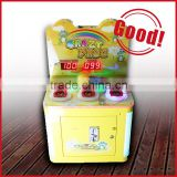 Coin operated hit hammer game machine/Coin pusher arcade play hammer game machine for kids
