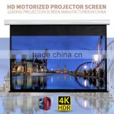 Electric motorised projection screen for church/ Motorized projector screen with remote control