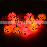 2.5M Halloween Props Haunted House Supplies Bar Decoration 16 LED Pumpkin String Light Fairy lights Festival Lamp