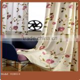 Custom made floral design polycotton material embroidery curtain drapery fabric wholesale