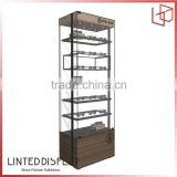 Factory direct selling high quality 6 bottle circle hole acrylic wine display holder / lucite wine glass racks