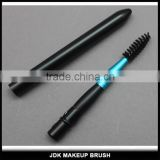 Wholesale High end mascara wand Microfiber brush eyelashes Custom Black color Retractable Eyelash extension brush with metal lid