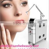 Good effects closed-off water circulation + air cooling system nd yag laser for tattoo removal