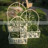 Very Nice Classic Vintage Outdoor Wrought Iron Antique White Water-Proof Metal Unique Vertical Garden Planters