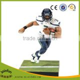 OEM cartoon football figure, Custom plastic football player figure,3d plastic custom football player action figure