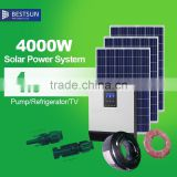 BESTSUN Factory directly sale poly 4000W solar power system home per watt polycrystalline home system 250w poly solar panel