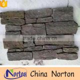 Cheap grey firepalce decoration Cement back wall cladding stone NTCS-C028Y