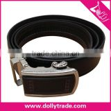 Black High Quality Auto Lock Buckle Men PU Leather Belts