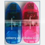 blue and pink hot selling multislot USB card reader