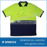 Big size Polo shirt for men, OEM men's dry fit polo t shirt, golf shirt 100% polyester dry fit fabric