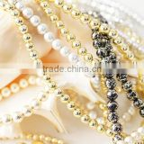 Premium and Popular Plastic Based Metallic Beads for Jewelry use , also other shapes available