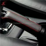 Handbrake Cover For 2013 2014 Subaru Forester Car Special Hand-stitched Black Genuine Leather Handbrake Cover