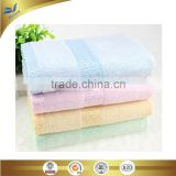 china manufacturer hight quality border jacquarded yarn dyed bamboo face towel can also using for hand cleaning 25*50 cm