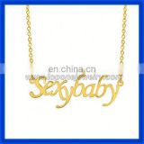 2014 fashion jewelry alphabet letter personalized 14k gold wire name necklace