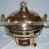 COPPER BRASS Food Warmer Chafing DISH TO SERVE