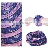 Promotional 100% polyester Printed Cotton Bandana headwear bandanda