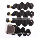 alli express body wave hair for brazilian human hair bundles with closure