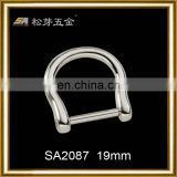 Fashionable high quality silver d ring belt buckle