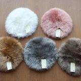 Round Genuine Sheepskin Seat Cushion Fur Rug Seat Pad