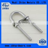U bolt with washer and nut AISI304/316 grade stainless steel material u bend bolt auto parts
