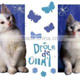 kid home decoration lovely cats wall decal sticker