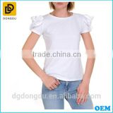 White Dongguan Factory Graments Casual T shirt for Women 2016
