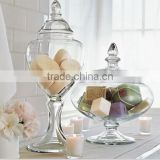 voluminous glass canisters for storage glass candy jars                                                                         Quality Choice