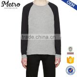 Plain Raglan Sleeve Fashion French Terry Sweatshirts for Men