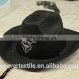 Promotion for Summer sunshade protection Straw Hat Wholesale customized Cowboy Hat Unisex