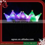 Children Kids Party Birthday Festival LED Light Cap Hat Crown King/ Princess Girls Handmade Headband