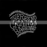 Custom style hotfix crystal rhinestone letter THERES NO CRYING IN BASEBALL transfer motif