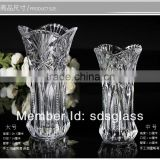 high quality tall glass vase for wedding