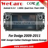 Wecaro WC-JC6235 Android 4.4.4 car dvd player indash for dodge touch screen radio 2009 2010 2011 USB SD