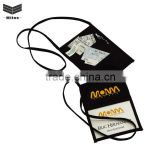 Factory price!Promotional wholesale portable polyester neck wallet / lanyard wallet / pouch wallet