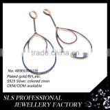 Hip hop jewelry custom made in Guangzhou wholesale 18k gold platinum plated hoop earrings