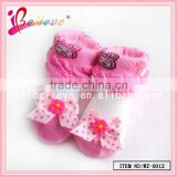 2015 Baby products wholesale 3d baby socks with bow,infant cotton boot socks