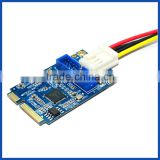 mPCIe to 19pin header USB3.0 card mini PCIe to Dual USB3 with 4pin molex power