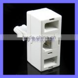 UK Telephone BT Plug to RJ11 BT Jack Adapter Splitter