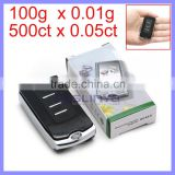 500ct x 0.05ct Smallest Digital Scale Car Key Shape Mini Jewelry 0.01g Diamond Car Key Scale