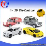 1:36 pull back toy miniature die cast model car