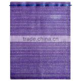 50x80cm cheap and good quality purple hdpe raschel mesh net bags for vegetables and fruits