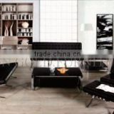 Modern Design Black Synthetic Leather Sectional Office Sofa Singapore(SZ-SF01)